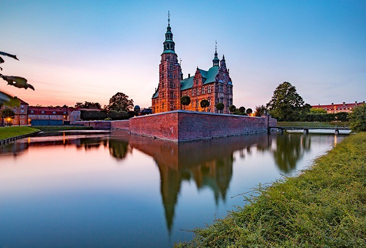 Large church overlooking water